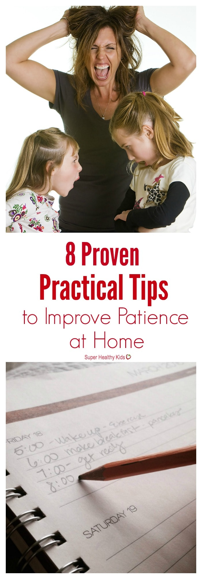 MOM TIPS - 8 Proven, Practical Tips to Improve Patience at Home. If you feel like you often lose your patience with your kids, these 8 proven and practical tips will help you have a calmer home life. http://www.superhealthykids.com/8-proven-practical-tips-improve-patience-home/