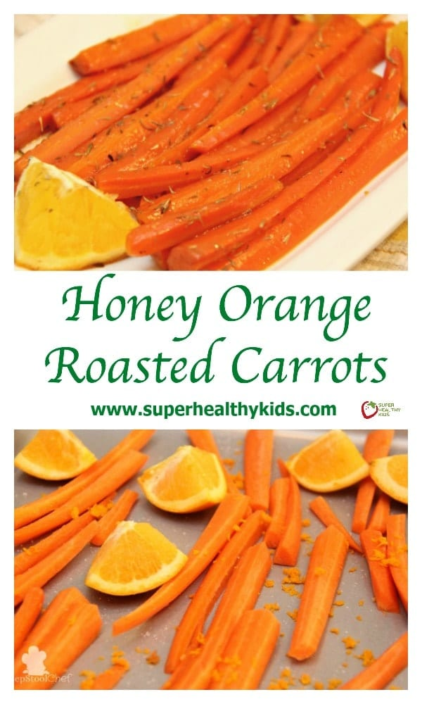 Honey Orange Roasted Carrots. This amazing veggie side dish has natural sweetness with a citrus tang! The perfect fresh veggie to go with a meal.