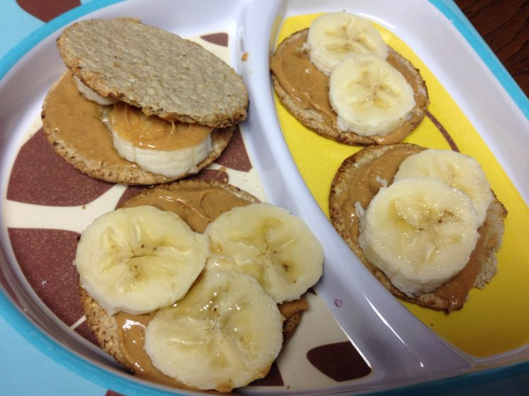Peanut Butter and Banana Crackerwiches