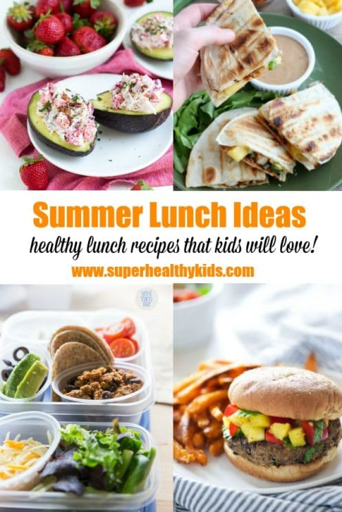 15 Easy and Fresh Summer lunch ideas that kids will love! www.superhealthykids.com