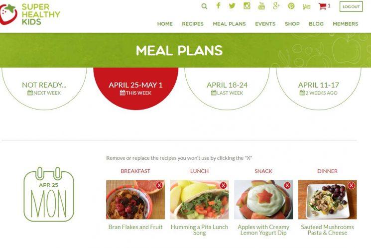 meal plan sample