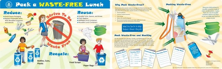 Reducing waste generated by school lunches.