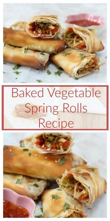 Baked Vegetable Spring Rolls Recipe