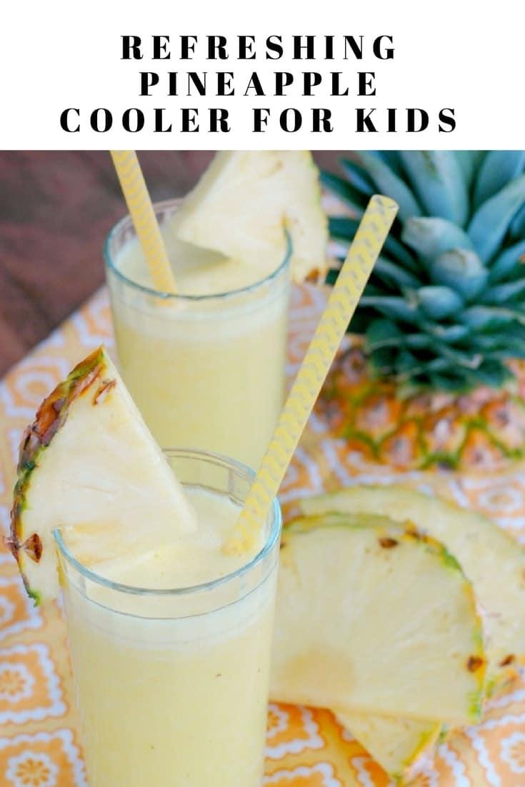 Refreshing Pineapple Cooler For Kids
