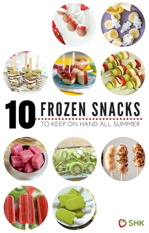 10 Frozen Snacks To Keep On Hand All Summer | This is the list you need to keep handy all summer long, great healthy snacks great for adults and kids alike! www.superhealthykids.com