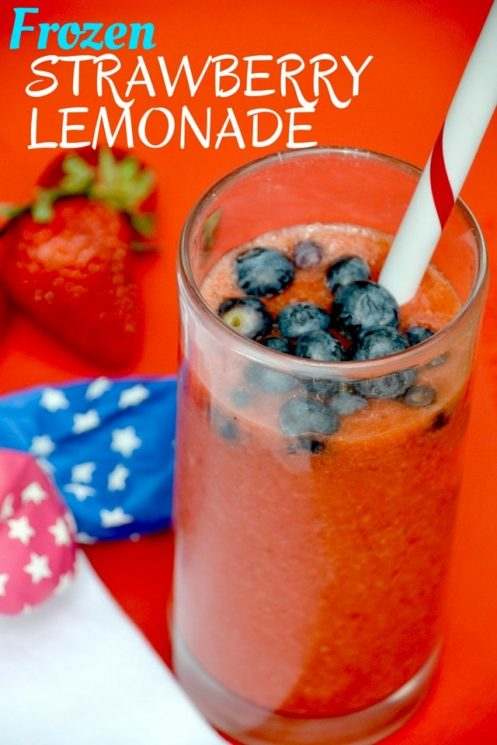 Celebrate summer with this festive frozen strawberry lemonade. Real fruit. Beautiful color. Bursting with flavor. www.superhealthykids.com