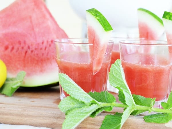 Watermelon Mint Lemonade - Sweetened with honey!