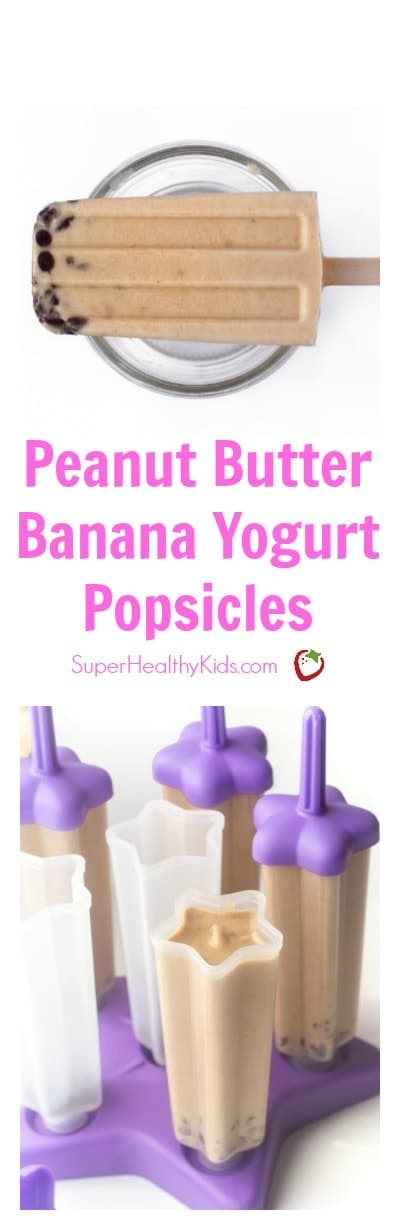 FOOD - Peanut Butter Banana Yogurt Popsicles are a healthy way to cool down this summer! Rich, creamy and the perfect healthy treat for your sweet tooth!