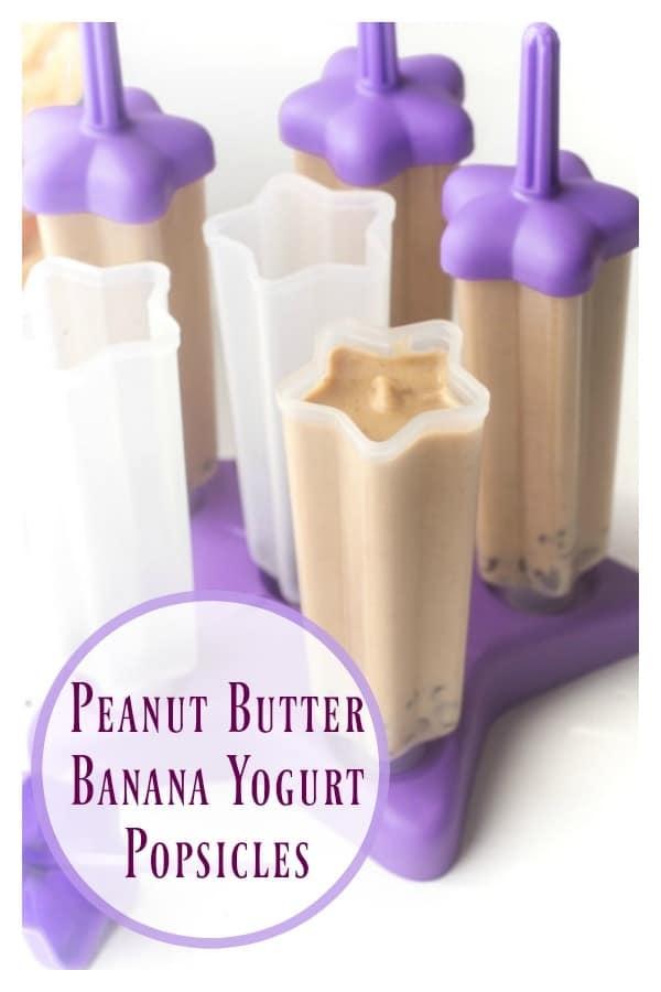 Peanut Butter Banana Yogurt Popsicles