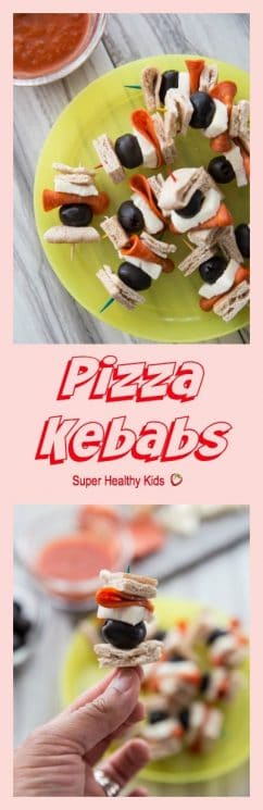 PIZZA KEBABS the easiest snack you're kids are sure to love! Not only are they quick, but they are so simple to put together the kids can make them almost all on their own (with help in the baking of course). Perfect for an after school pick-me-up!