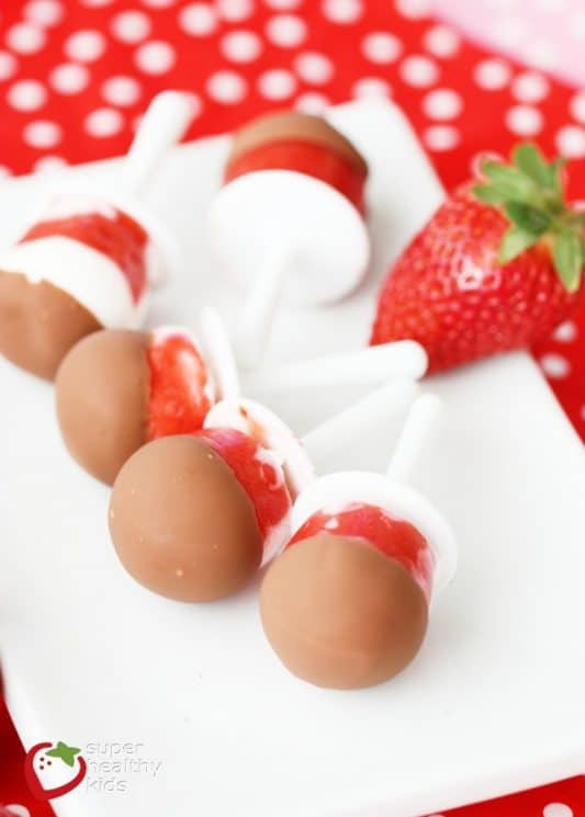 Strawberries and Cream Choco Pops