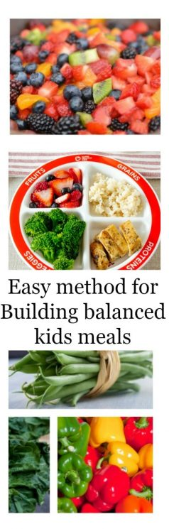 Building a balanced kids meal with choose my plate