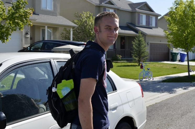 nate going to school