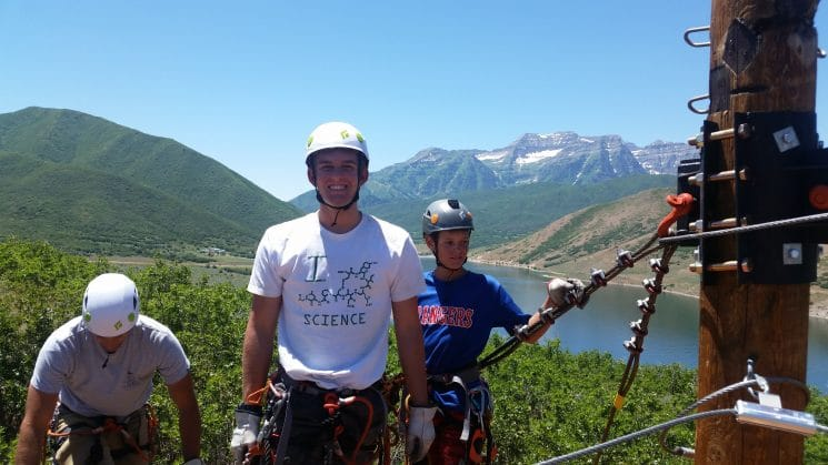 Things to do in heber valley utah Zipline Utah over Deer creek