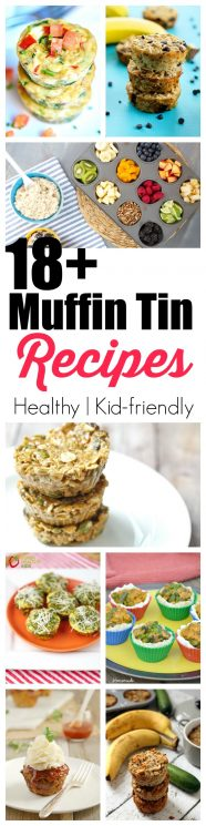 FOOD - 18+ Healthy and delicious recipes you can make in a muffin tin! There are so many healthy and delicious recipes you can make in a muffin tin besides muffins. Check out 18 recipes both sweet and savory to make! https://www.superhealthykids.com/18-healthy-and-delicious-recipes-you-can-make-in-a-muffin-tin/