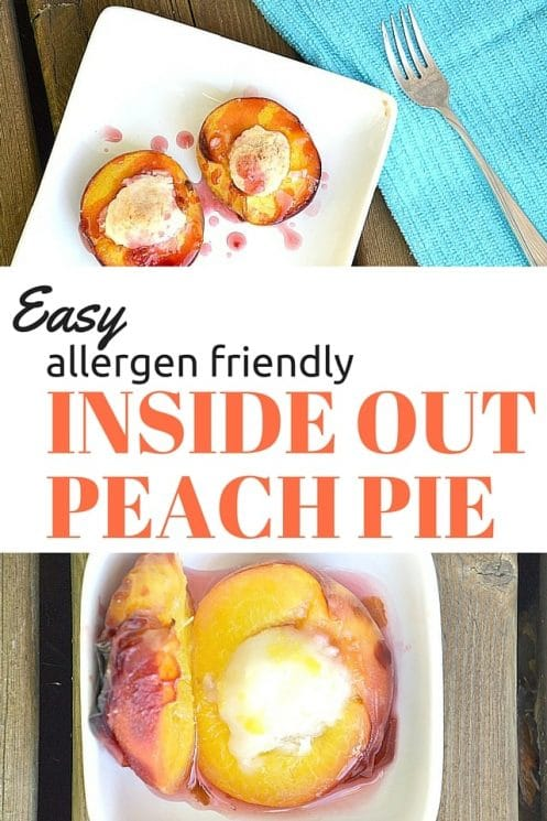 Enjoy the sweetness of summer without spending hours in the kitchen. This easy inside out peach pie is the perfect breakfast or dessert for both kids and adults. www.superhealthykids.com