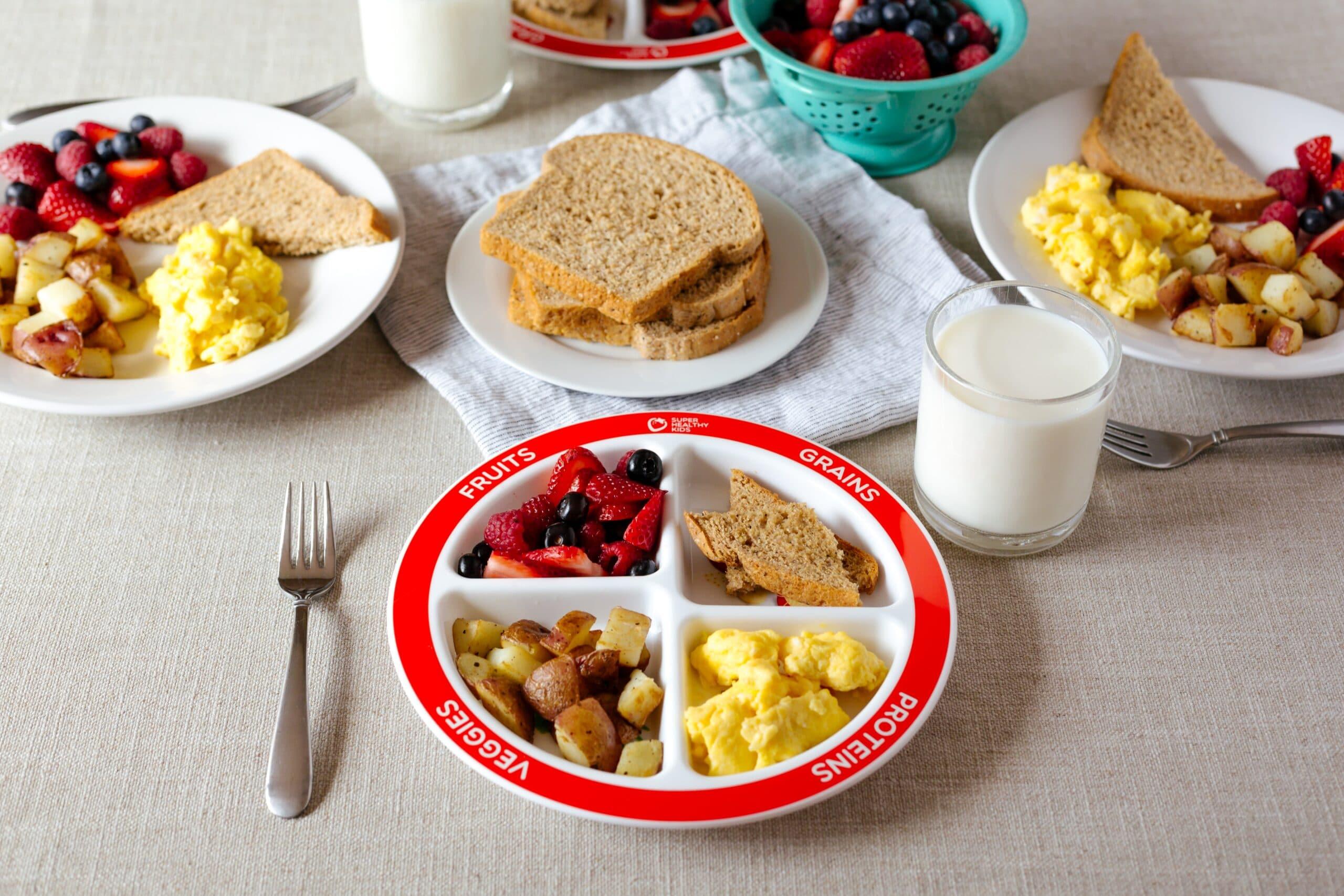 Healthy Balanced Breakfast With Myplate Super Healthy Kids