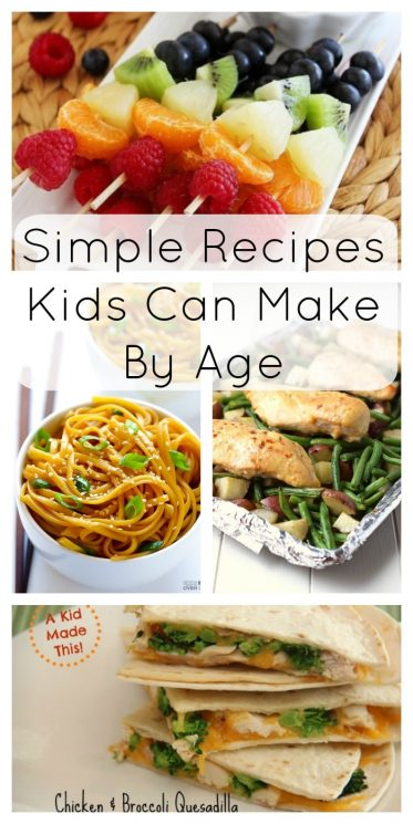 Simple Recipes Kids Can Make By Age
