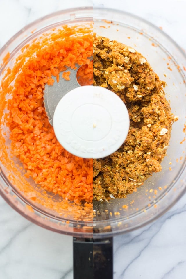 No-Bake Carrot Cake Bites -- a healthy, kid-friendly snack that is secretly packed with veggies and still tastes like dessert!