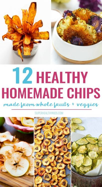 12 super easy and crazy delicious HOMEMADE CHIP recipes -- made from whole fruits and veggies!