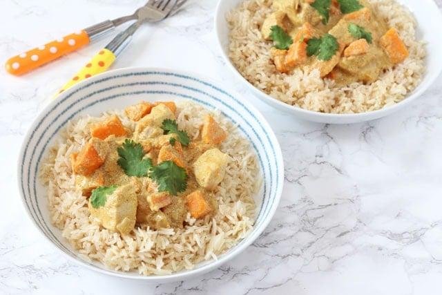 Mild Chicken & Sweet Potato Curry for Kids. www.superhealthykids.com