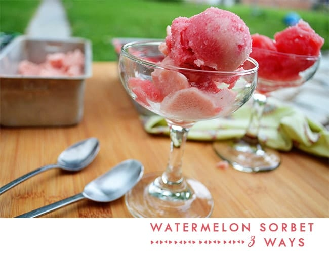 Watermelon Sorbet 3 Ways. Sweet, healthy and delicious. www.superhealthykids.com