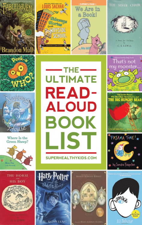 The Ultimate Read-Aloud Book Guide. This is the ultimate guide for book ideas to read aloud to your kids of all ages. You will want to PIN this one for sure! www.superhealthykids.com