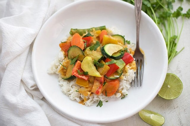 20-minute veggie curry the whole family will love.