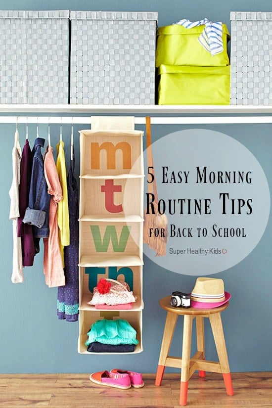 5 Easy Morning Routine Tips for Back to School. 5 of the best tips out there to make your school mornings smooth. https://www.superhealthykids.com/5-easy-morning-routine-tips-back-school/