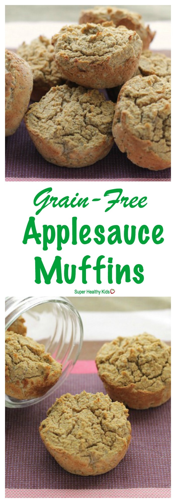 FOOD - Grain-Free Applesauce Muffins. Your family will never notice that these moist muffins are free from grains and gluten! http://www.superhealthykids.com/grain-free-applesauce-muffins-recipe/