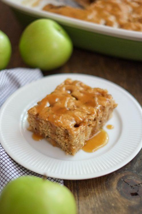 Healthier Caramel Apple Cake Recipe
