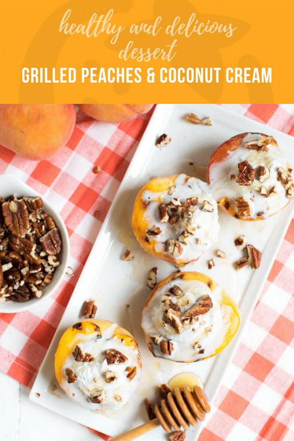 grilled peaches and coconut cream