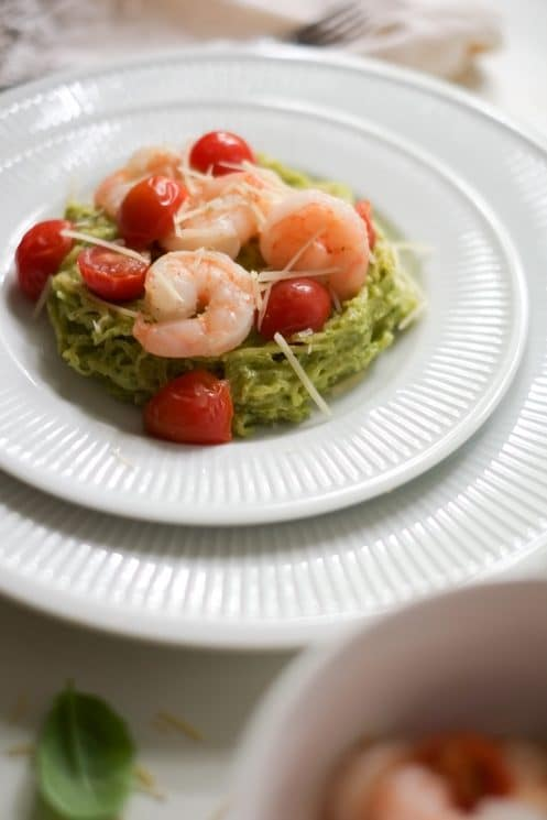 Avocado Pesto Spaghetti Squash Recipe