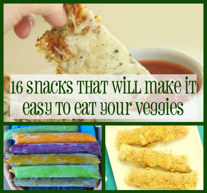 16 Snack That Will Make it Easy To Eat Your Veggies. This list is a must save when you find it hard to eat those veggies!
