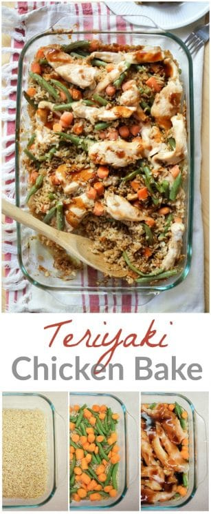 Simple teriyaki chicken bake. This Teriyaki chicken casserole has it all - it's delicious, healthy and easy! And our homemade teriyaki sauce is super simple and delicious. https://www.superhealthykids.com/easy-teriyaki-chicken-bake-recipe/