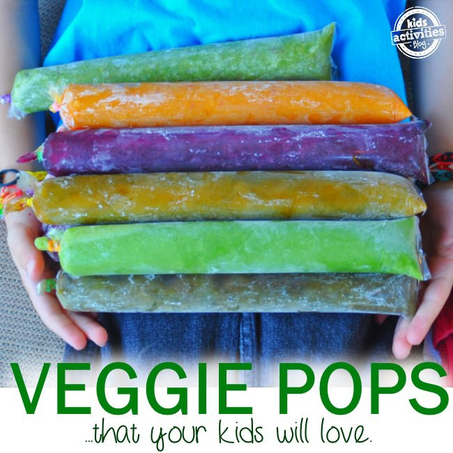 colorful homemade popsicles made with veggies