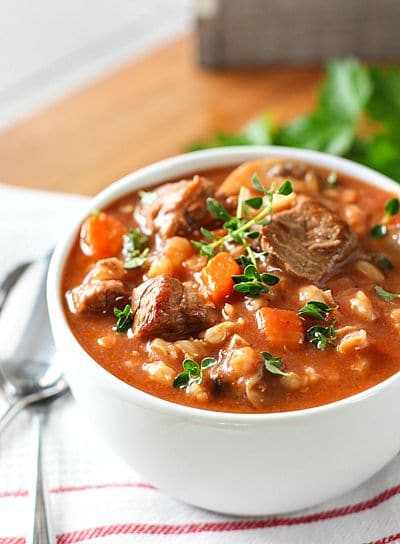 Slow Cooker Beef Barley Soup