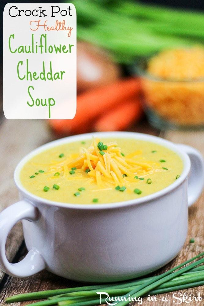 Crockpot Cauliflower Cheddar Soup