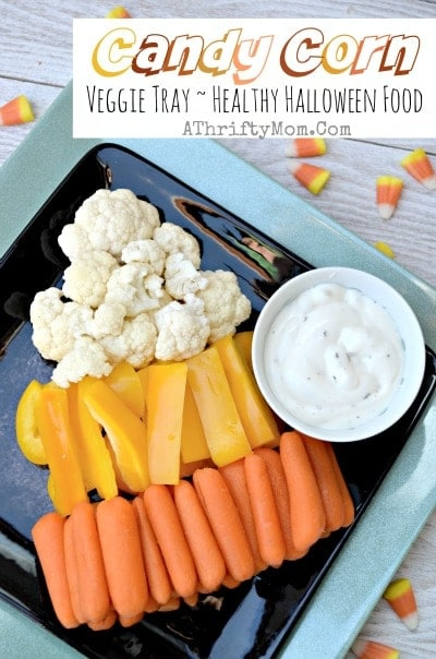 Candy corn veggie tray