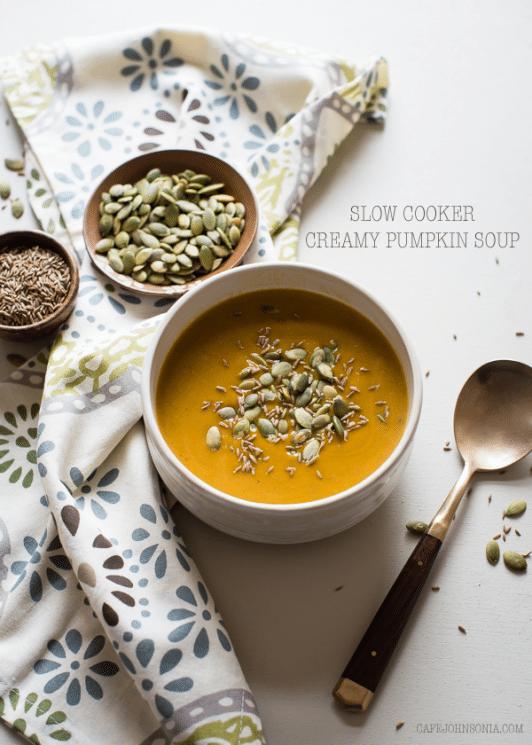 Slow Cooker Creamy Pumpkin Soup