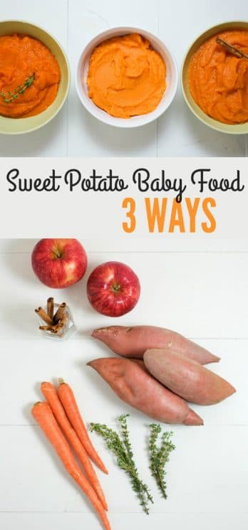 Sweet Potato Baby Food 3 Ways. Homemade baby food is inexpensive and easy! Sweet potatoes are great to start with because they're nutrient dense, tasty, and versatile. https://www.superhealthykids.com/sweet-potato-baby-food-3-ways/