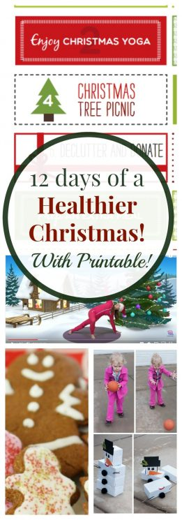 12 days of christmas healthy family activities