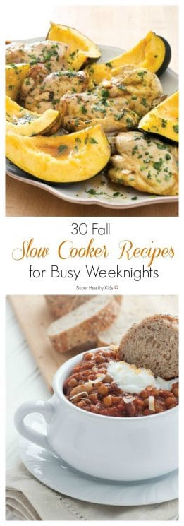 30 Fall Slow Cooker Recipes for Busy Weeknights. We have 30 slow cooker recipes, inspired by Fall, for busy weeknights to help you provide a home-cooked meal for your family. https://www.superhealthykids.com/30-fall-slow-cooker-recipes-busy-weeknights/