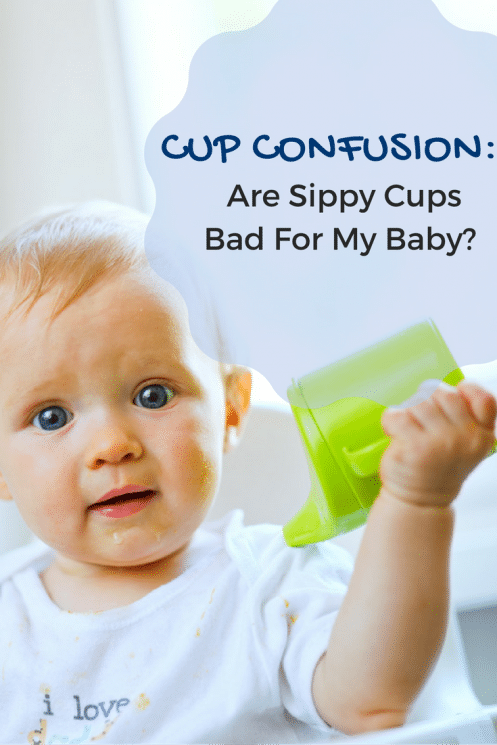 Cup Confusion: Are Sippy Cups Bad For My Baby? Many parents don't realize that babies can and should be introduced to regular, open cups at about six months of age. Here are 3 reasons why. https://www.superhealthykids.com/cup-confusion-sippy-cups-bad-baby/