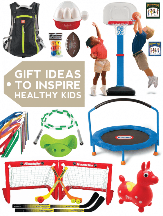 Gift Guide: 10 Gift Ideas to Inspire Healthy Kids. Inspire kids to live a more active lifestyle. Here are 10 gift ideas for our kids that have gotten an incredible amount of use and really helped our kids move! https://www.superhealthykids.com/gift-guide-10-gift-ideas-inspire-healthy-kids/