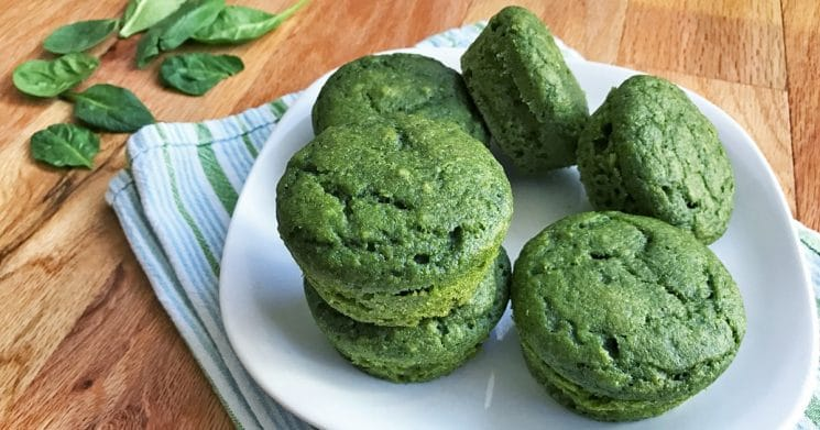 Sweet Spinach Muffins. These kid-favorite greenmuffins are 100% whole wheat, refined-sugar-free, and packed with fresh spinach!
