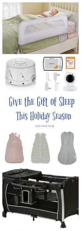 Give the Gift of Sleep This Holiday Season. Give the gift of sleep to the little one on your list this holiday season. We've got the top 5 sleep gifts to help your child rest easy. https://www.superhealthykids.com/give-gift-sleep-holiday-season/