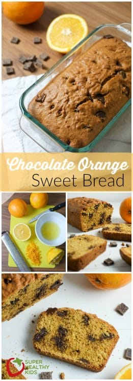 FOOD - Chocolate Orange Bread Recipe | Sweet Bread | Super Healthy Kids | Food and Drink https://www.superhealthykids.com/chocolate-orange-bread-recipe/