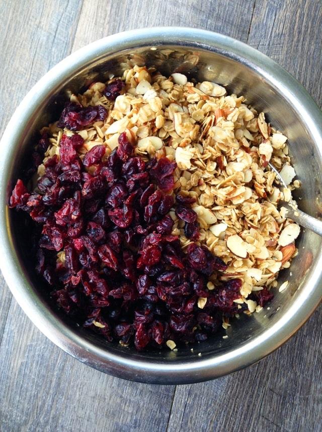 granola-cranberries
