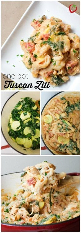 One Pot Tuscan Ziti | Super Healthy Kids | Food and Drink https://www.superhealthykids.com/one-pot-tuscan-ziti-recipe/